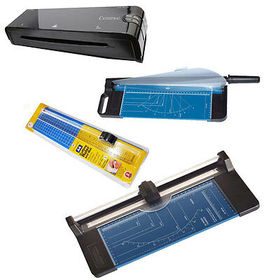 Cathedral A3 A4 Rotary Paper Trimmer Guillotine Cutter Ruler Mat Laminator Pack