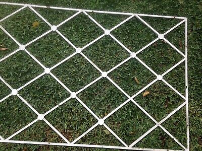 Vintage WROUGHT IRON FRAME Diamond pattern. Ideal for wall or fence