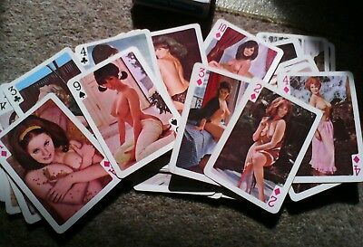 Adult Magazine Vintage Playing Cards Adults 54 Models Beauty World Over 18's
