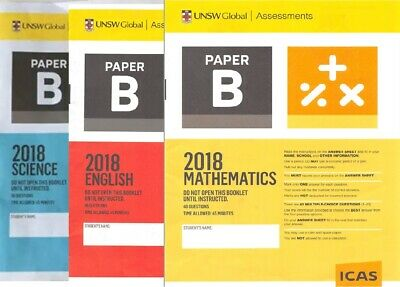 ICAS Year 4 (B) Past Papers lot - All subjects (53 papers)