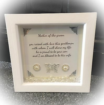 BEAUTIFUL HANDMADE MOTHER Of The Groom Personalised Box Frame Gift ...