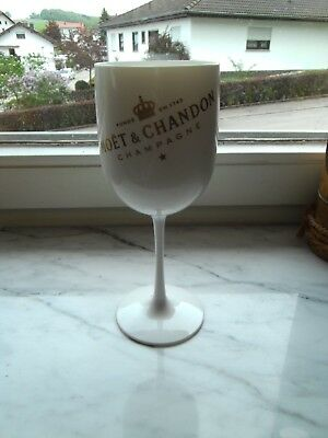 WEiß#2! Moet & Chandon Ice Impérial Acrylglas Champagner Becher Kelch Acryl
