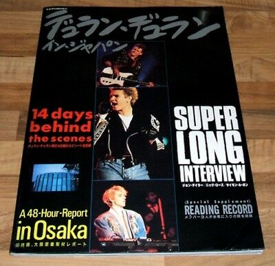 "DURAN DURAN 14 Days Behind The Scenes JAPAN Book With 7"" Flexi Disc"