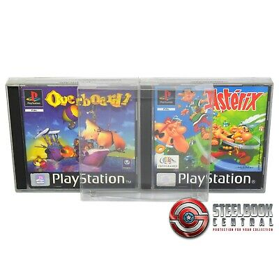 10 x GP1 PS1 Game Box Protector 0.4mm PET Plastic Display Case For Playstation 1