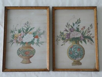 Antique Chinese Watercolour Paintings on Rice Paper