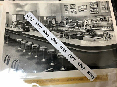 (10) Vintage 50s Photographs Soda Fountain Ice Cream Shops Diners Buffalo NY