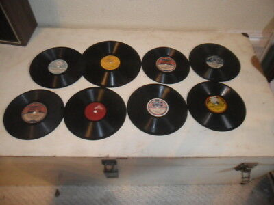 8 small & kids 78rpm gramophone phonograph records