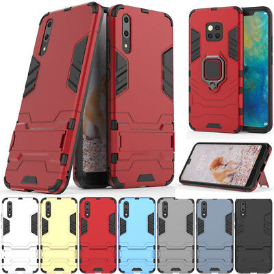 For Huawei P20 P30 Mate 20 Lite Pro Hybrid Shockproof Rubber Case stand Cover