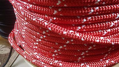 """7/16"""" x 100 ft. Double Braid~Yacht Braid polyester rope.Made in USA."""