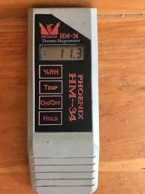 Phoenix HM34F Hand-Held Humidity and Temperature Meter