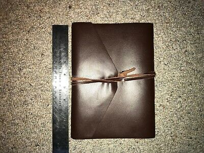 Large Leather Bound Softcover Journal Plain Paper