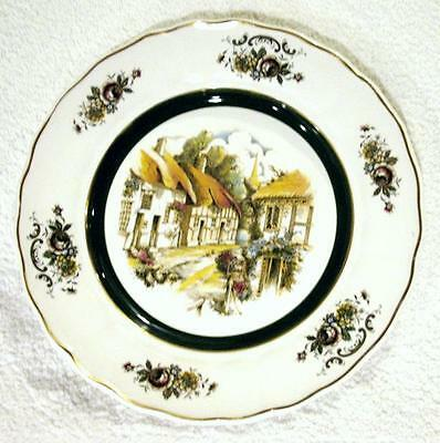 English Rural Scenes Grindley of Stoke Princess House Cottage Plate England 10.5