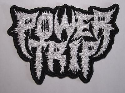 POWER TRIP logo embroidered NEW patch thrash metal crossover