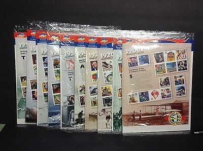 #3182-#3191 All 10 Celebrate the Century Full Sheets in USPS Packages & Binder