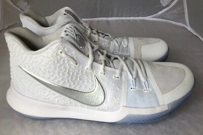 ca14ec39af900a ... coupon code for mens nike kyrie 3 white chrome basketball shoes 852395  103 size 10.5 c3ce4