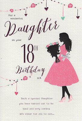 For A Special Daughter Happy 18th Birthday Card