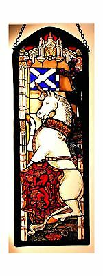 Decorative Hand Painted Stained Glass Window Rectangular Panel in an Edinburg...
