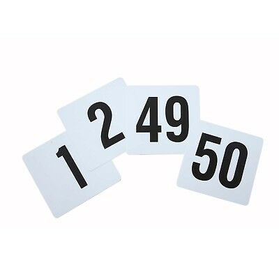 Winco TBN-50 Plastic Table Numbers Set [Set]