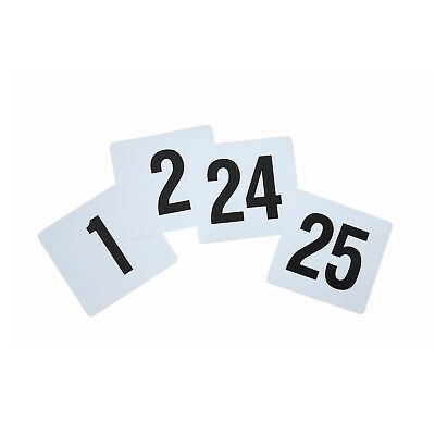 Winco TBN-25 Plastic Table Numbers Set [Set]