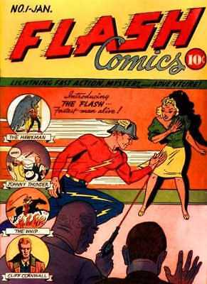 The Flash Comics Golden & Silver Age Comics over 700  issues on disc