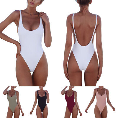 Sexy Women Bikini Padded Bra One Piece Monokini Swimwear Swimsuit Bathing Suit