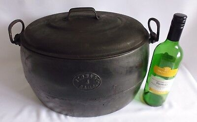Arrowmarked 1945 Cast Iron Cooking Pot & Lid 4 Gallon - Izons & Sons - Military.