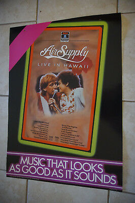 Air Supply RCA Columbia 1984 mobile cardboard poster promo display