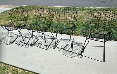 Mid Century Wire Bertoia Side Chair Vintage Knoll 1960-1972 Set of 4