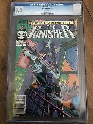 The Punisher 1 CGC 9.4 White Pages Klaus Janson 7/87 First Unlimited MarvelComic