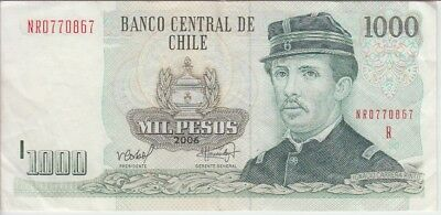 Chile Banknote P154g-0867 1,000 1.000 1000 pesos 2006, Replacement, VF