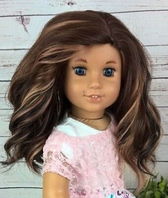 10-11 Custom Doll Wig fit Blythe-American Girl-1/4 Size Doll FROSTED CAKE bn3