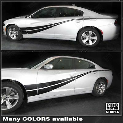 Dodge Charger 2015 2016 2017 2018 2019 Side Accent Double Stripes Decals