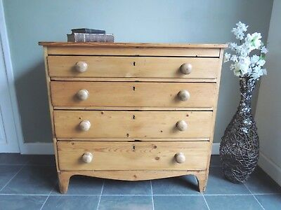 Georgian Very Old   Antique  Chest of Drawers   Solid Pine  *Stunning* !!