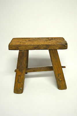 Asian Chinese Traditional  Solid Natural Wood Seat Sitting Stool .stand A-01