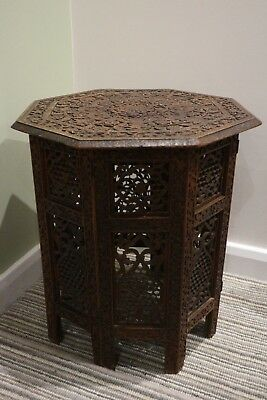 Colonial Edwardian Campaign Furniture - Octagonal Side Table - Vintage