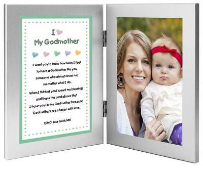 Baptism or Mother's Day Gift for Godmother - Sweet Godchild Poem From Godson...