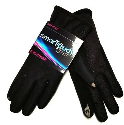 Isotoner Women's SmarTouch Gloves for Touchscreens M/L - Black