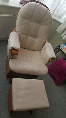 Tutti bambini nursing chair rocking glider chair with gliding foot stool
