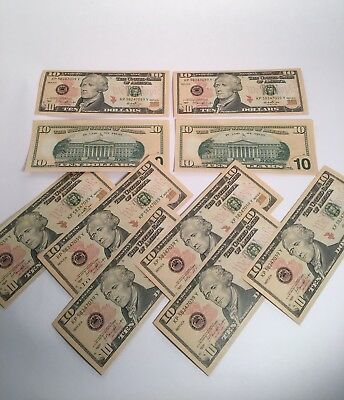 New 10$ Bills Novelty Fake Money - Most Realistic Paper Money (100$ in 10's)