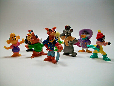 Vintage Lot of 8 Disney Afternoon 1991 Kellogg  PVC Figures 2 inch