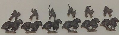 Lot Of 6 Byzantine Heavy Cavalry With Riders Lead/Pewter Soldiers Figures Toys