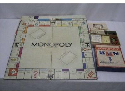 Lot Vintage Parker Brothers Monopoly Games 1935(?) And 1974 Wooden Houses