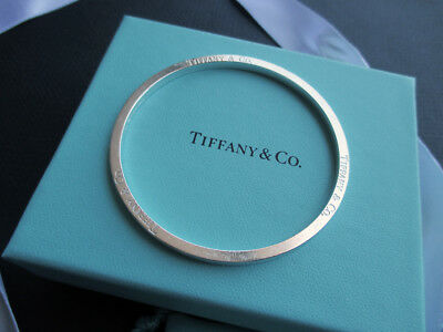 Tiffany And Co. Round Sterling Silver Bangle Vtg