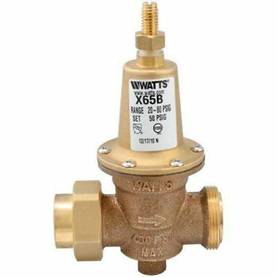 Watts 1 in. Lead-Free Brass MPT x FPT Pressure Reducing Valve FX65BU
