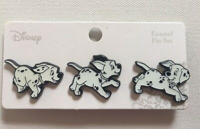 Disney Loungefly Running Puppies 3 Pin Set 101 Dalmatians (BoxLunch Exclusive)