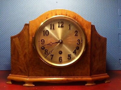 Stunning Art Decco Westminster Chime Mantle Clock . Working.