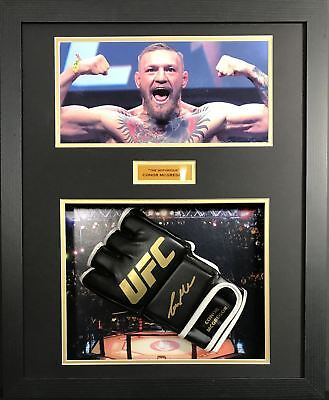 Conor Mcgregor Signed and Framed Glove with COA
