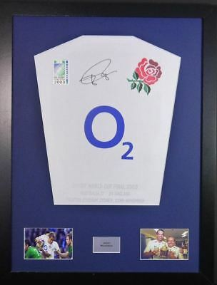 Jonny Wilkinson Rugby World Cup 2003 Signed Shirt Display With COA