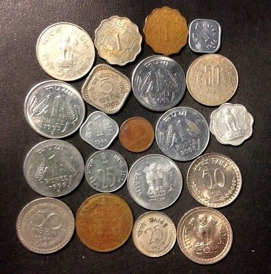 OLD India Coin Lot - 1919-Present - 20 Great Coins - Lot #A23