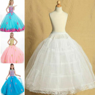 Flower Girl dress Petticoat 4-hoop Child Underskirt Kids Wedding Crinoline 422